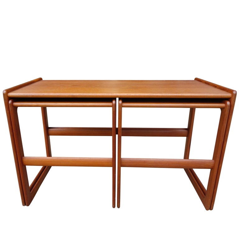 Midcentury Nesting Tables by Arne Hovmand Olsen for Mogens Kold For Sale