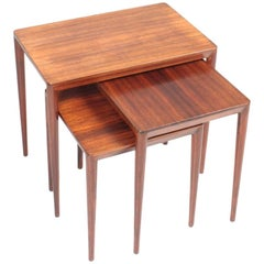 Midcentury Nesting Tables in Rosewood by Erik Risager Hansen, 1960s