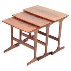 Midcentury Nesting Tables in Rosewood by Erling Torvits, 1960s