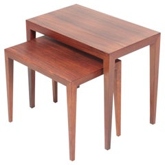 Midcentury Nesting Tables in Rosewood by Severin Hansen, 1960s