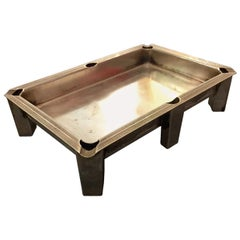 Midcentury Nickel Silver Pool or Snooker Table Ashtray