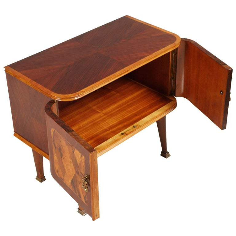 Art Deco Midcentury Nightstand Paolo Buffa Attributed for Esposizione Mobili Cantù For Sale