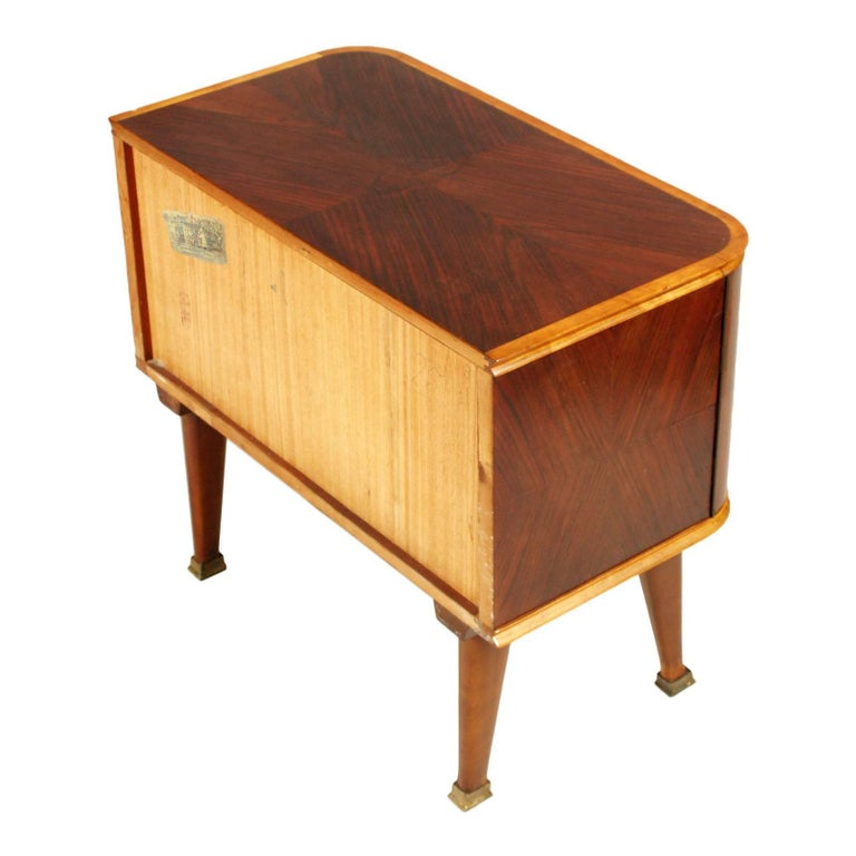 20th Century Midcentury Nightstand Paolo Buffa Attributed for Esposizione Mobili Cantù For Sale