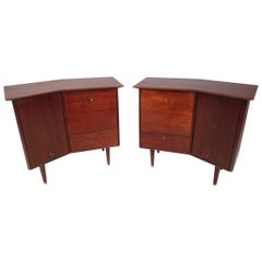 Midcentury Nightstands by Baker, a Pair