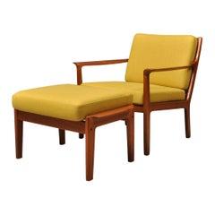 Midcentury Nordic Lounge Chair & Ottoman