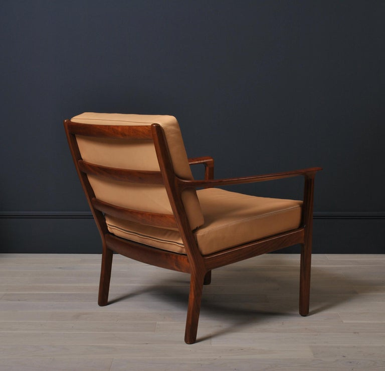 Midcentury Nordic Lounge Chairs, Teak & Leather For Sale 1