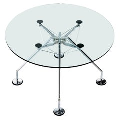 "Midcentury Norman Foster Round ""Nomos"" Italian Dining Table for Tecno, 1987"
