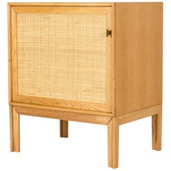 Midcentury Oak and Rattan Cabinet by Alf Svensson