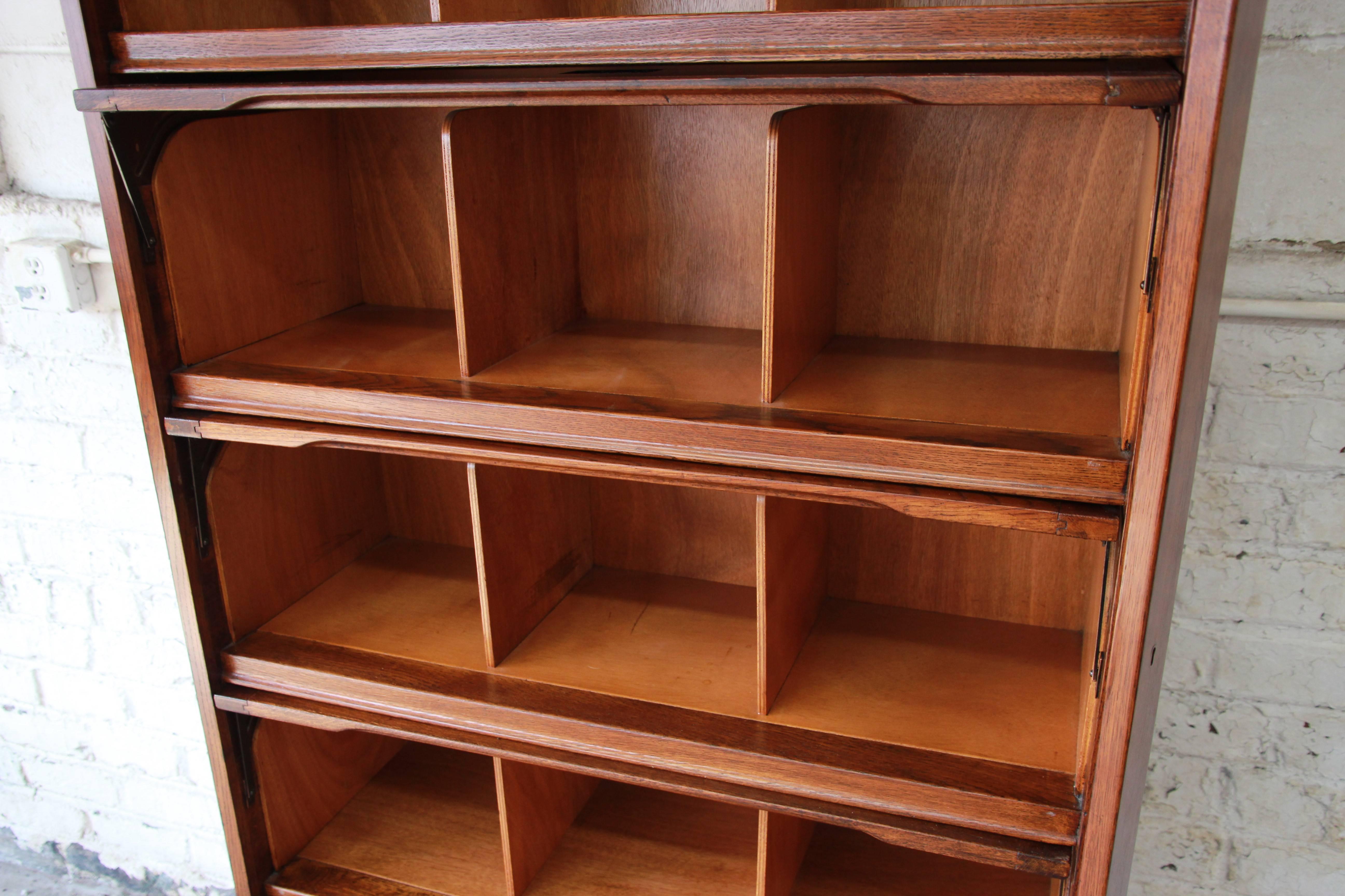 Midcentury Oak Barrister Bookcase 1950s