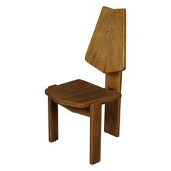 Midcentury Oak Chair from France, circa 1970