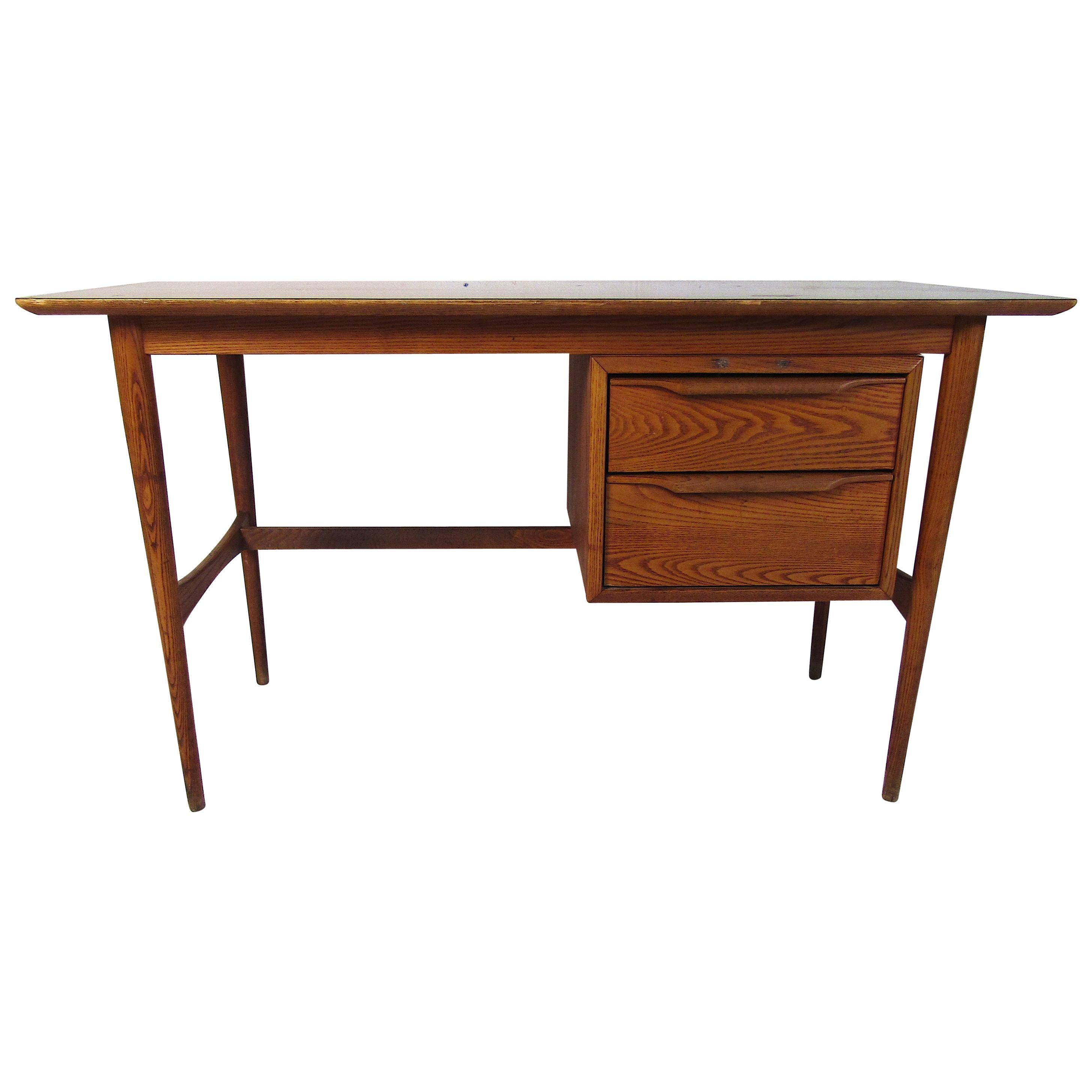 Midcentury Oak Desk by Heywood Wakefield