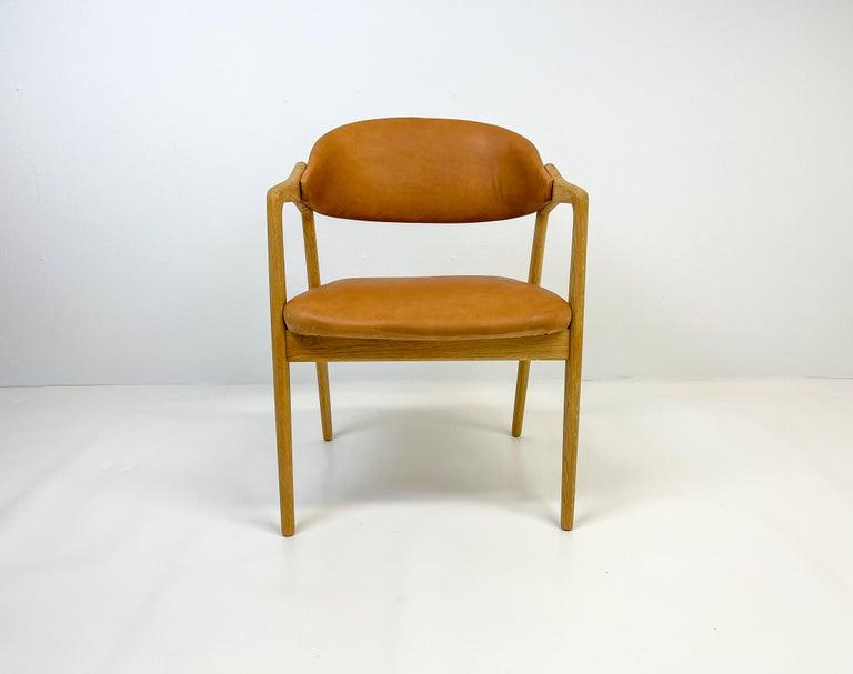 Mid-20th Century Midcentury Oak-Leather Desk Chair