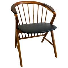 "Midcentury Oak/Teak Easy Chair Ikea Bengt Ruda ""Sierra"" Sweden"