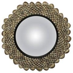 Midcentury Octagonal Shell Convex Mirror