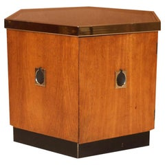 Midcentury Octagonal Side Table