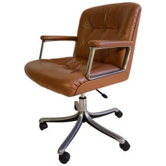 Midcentury Office Chair by Osvaldo Borsani P128 for Tecno Made in Italy