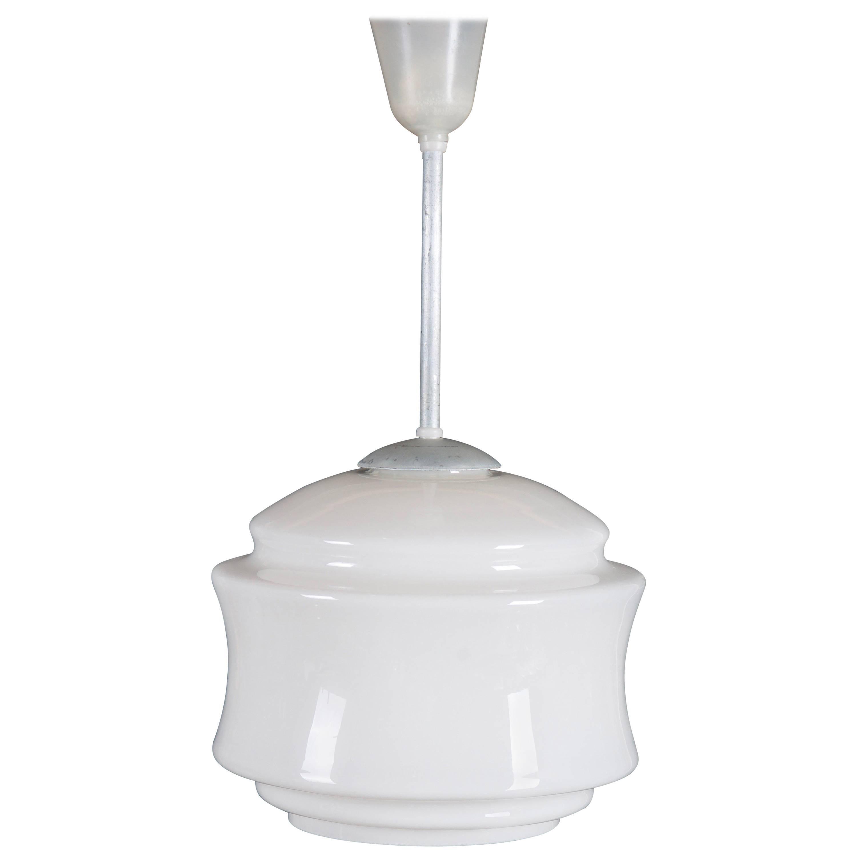 Midcentury Opaline Glass Pendant