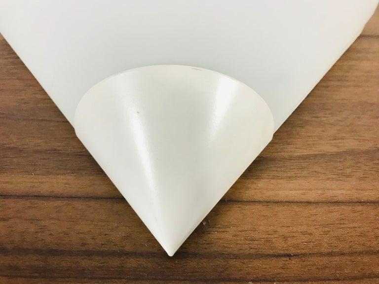 Mid-Century Modern Midcentury Opaline Glass Wall Lamp by Limburg, Germany, 1970s For Sale