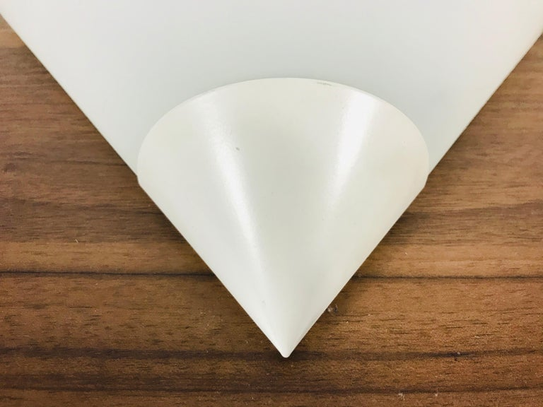 Midcentury Opaline Glass Wall Lamp by Limburg, Germany, 1970s In Good Condition For Sale In Hagenbach, DE