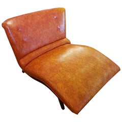 Midcentury Orange Chaise Lounge