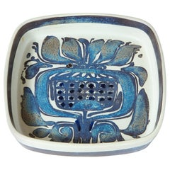 Midcentury Organic Modern Decorative Blue Thistle Dish by Royal Copenhagen