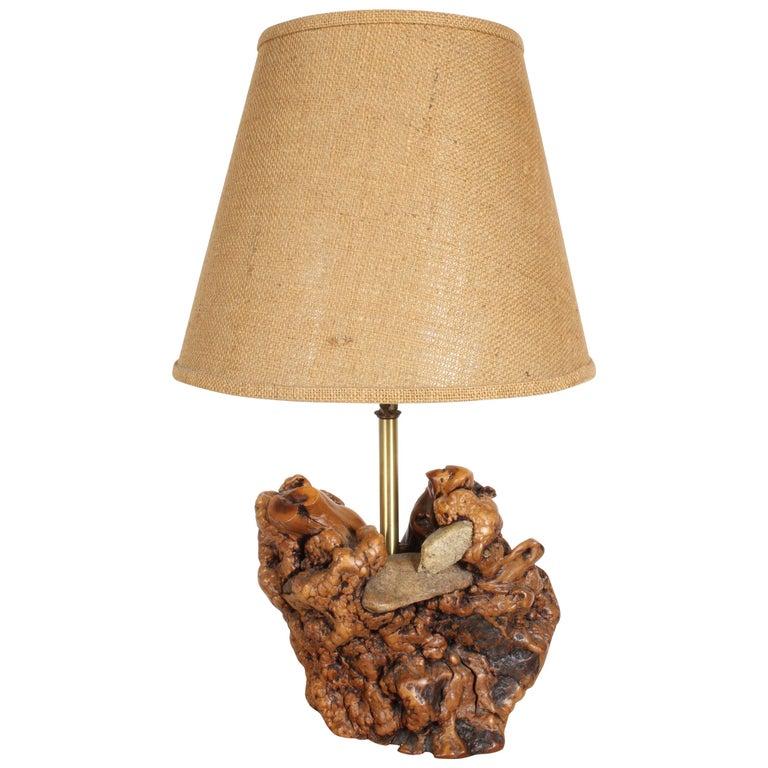 Midcentury Organic Modern Tree Root Lamp For Sale