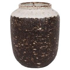 Midcentury Organic Modern White Glazed Ceramic Vase by Zaalberg