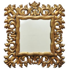 Midcentury Ornate Gold Mirror