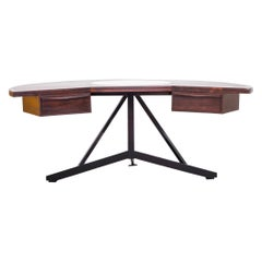 Midcentury Osvaldo Borsani Inspired Executive Rosewood Desk