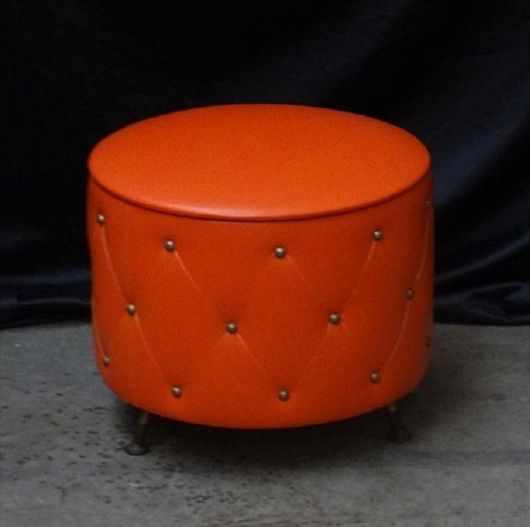 Midcentury Ottoman Stool or Hidden Storage Box, 1960s 2