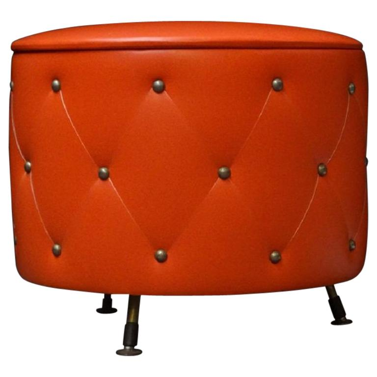 Midcentury Ottoman Stool or Hidden Storage Box, 1960s 1