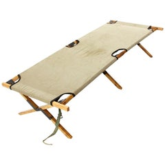 Midcentury Outdoor Daybed in Wood by Carlo Enrico Rava, 1940s