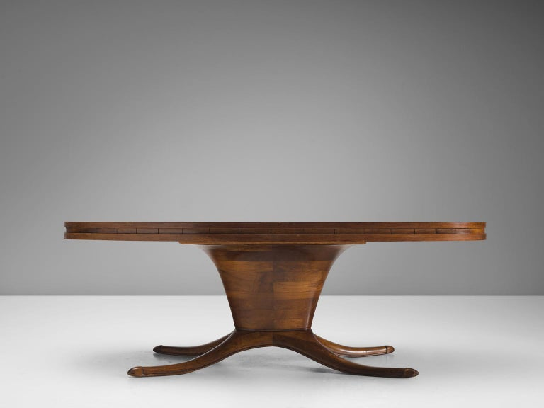 Mid-Century Modern Midcentury Oval Centre Table in Walnut, circa 1950 For Sale