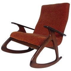 Midcentury Oversized Rocking Chair