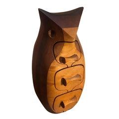 Midcentury Owl Form Trinket Box by Debora Bump