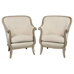 Midcentury Painted Frame Decca Europe Armchairs