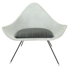 Midcentury Painted Woven Fiber Chair, English, circa 1950