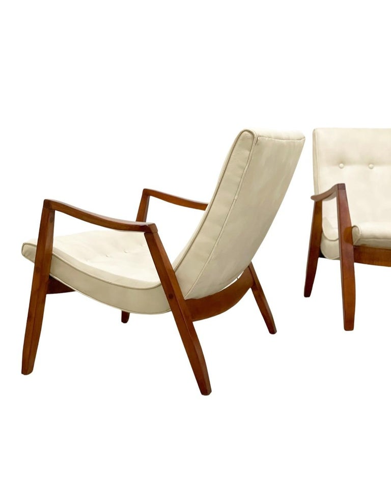 Mid-20th Century Midcentury Pair Milo Baughman Scoop Lounge Chairs for James Inc, Circa 1953 For Sale