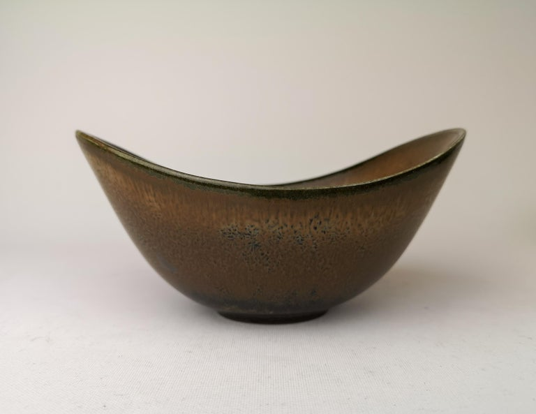 Midcentury Pair of Bowls Rörstrand Sweden by Gunnar Nylund, 1950s In Good Condition For Sale In Langserud, SE