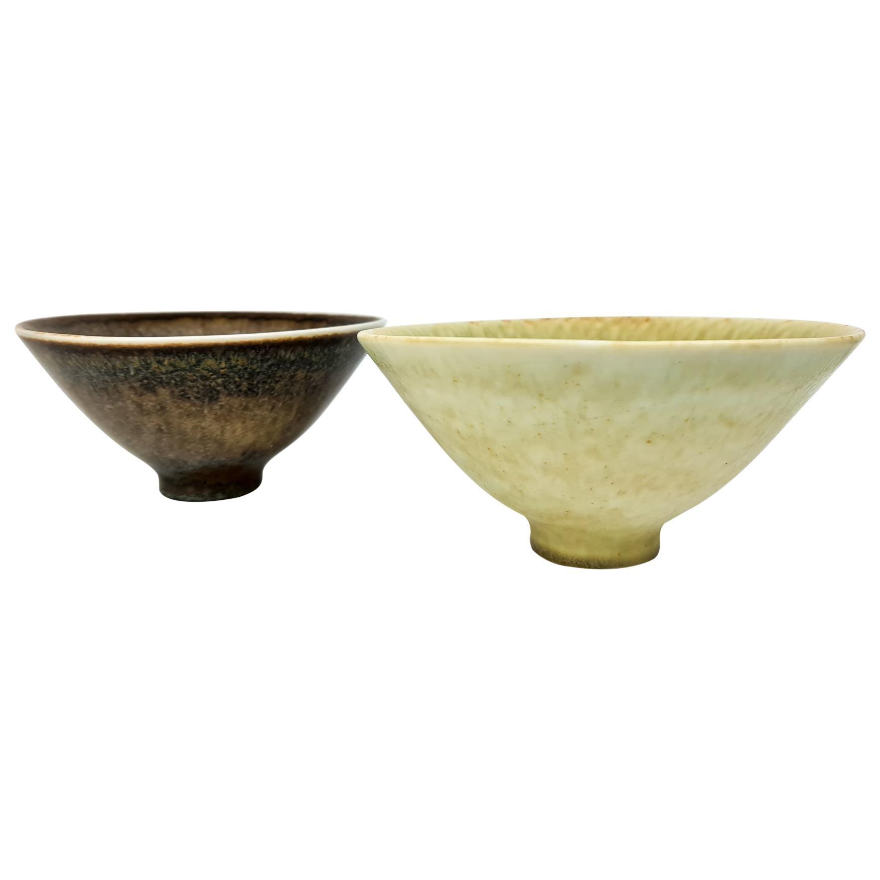 Midcentury Pair of Ceramic Bowls Carl-Harry Stålhane Rörstrand, Sweden, 1950s