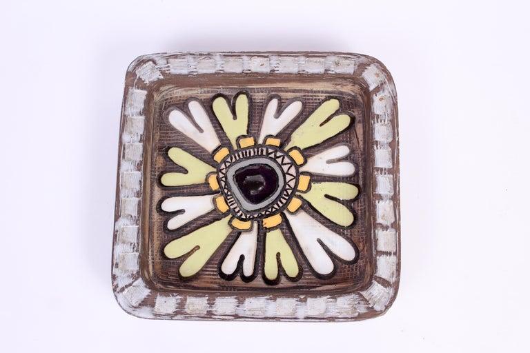 Swedish Midcentury Pair of Ceramic Trays by Mari Simmulson for Upsala Ekeby For Sale