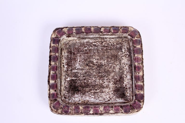 Mid-20th Century Midcentury Pair of Ceramic Trays by Mari Simmulson for Upsala Ekeby For Sale