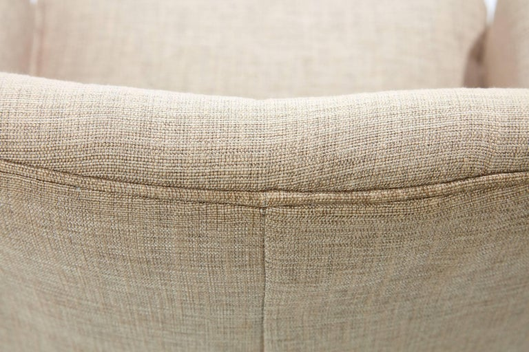 Midcentury Pair of Danish Petite Newly Upholstered Armchairs  For Sale 6