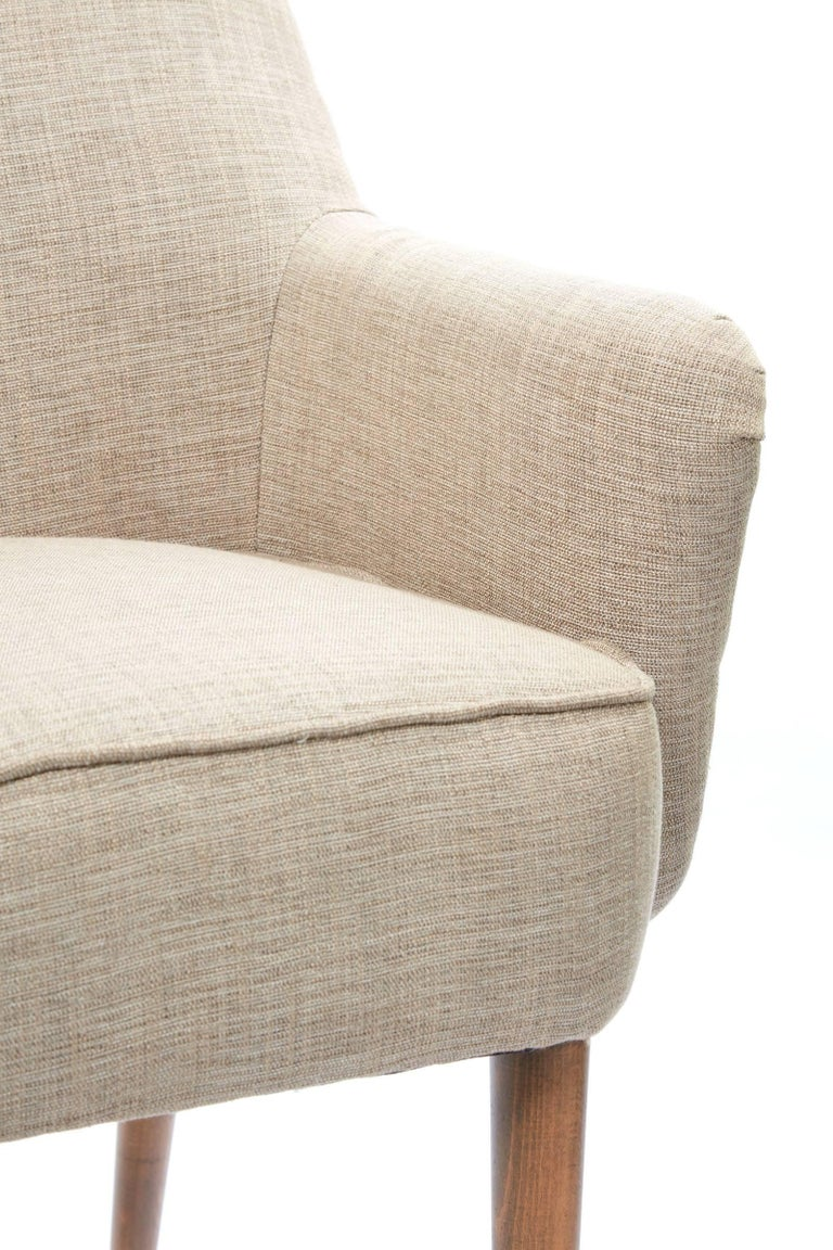 Midcentury Pair of Danish Petite Newly Upholstered Armchairs  For Sale 4