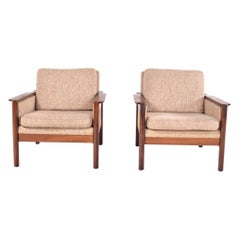 Midcentury Pair of Illum Wikkelso Capella Chairs for Niels Eilersen