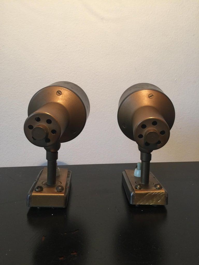 Midcentury Pair of Italian Adjustable Stilnovo Spotlights, 1950s For Sale 1