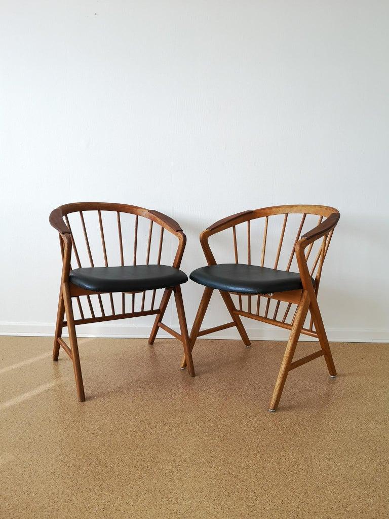 Mid-Century Modern Midcentury Pair of Oak or Teak Easy Chair Ikea Bengt Ruda