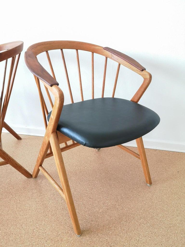 Mid-20th Century Midcentury Pair of Oak or Teak Easy Chair Ikea Bengt Ruda