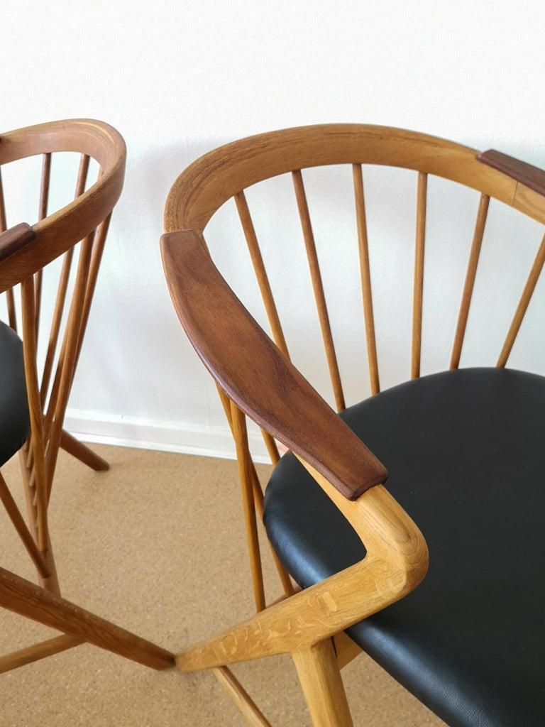 Midcentury Pair of Oak or Teak Easy Chair Ikea Bengt Ruda