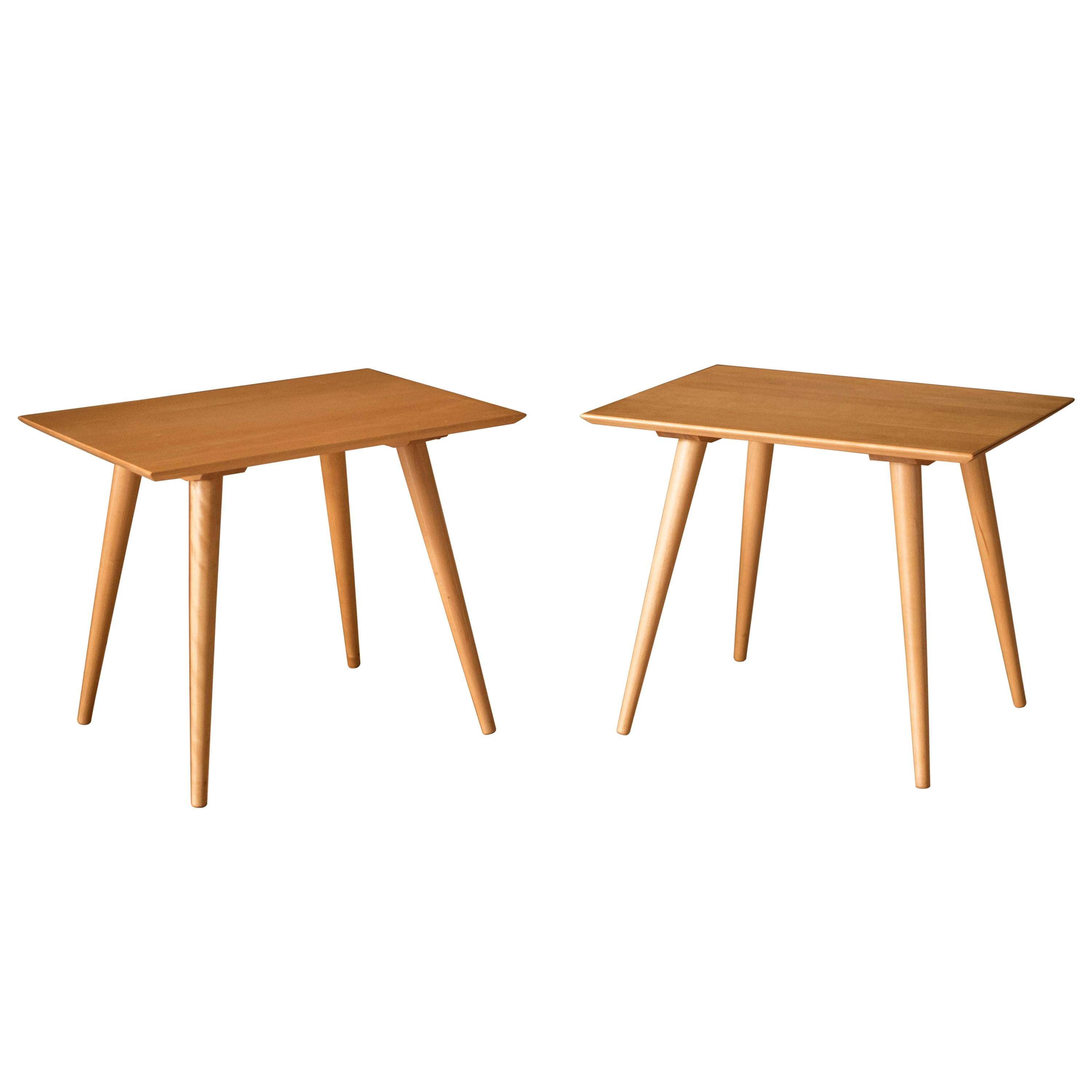 Mid Century Pair of Planner Group End Tables by Paul Mccobb for Winchendon